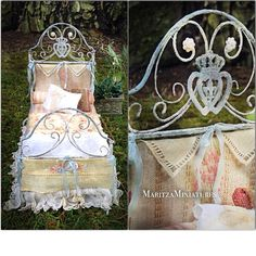 The most perfect French Wrought Iron Bed made by the ever talented Maritza!!