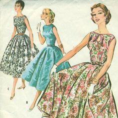 evening dresses, 3660, 1950s sew, party dresses, circle skirts, 1950s pattern, sew pattern, 50s dress, 16 dress