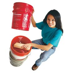 DIY Tip of the Day: 5-Gallon Bucket Spacer. It's nice to keep some empty 5-gallon buckets around, but the only way to efficiently store them is to stack them. The problem is, they can get stuck so tight it feels like they're glued together. Put a short chunk of 2x4 between the buckets when you stack them. It'll be a cinch to pull them apart. - Dennis Rowe