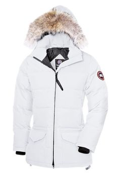 Canada Goose Outlet Solaris Parka Women White With Elegant Design - $310