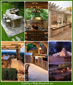 A girl can dream! Round up of outdoor kitchens.