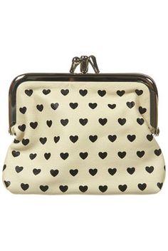 heart double frame clasp purse.
