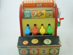 -Vintage Cash Register by Fisher Price-Fabulous & Fun 1970's Toys