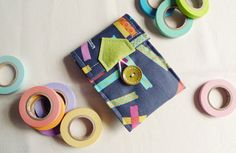 ipod/iphone wallet Japanese Washi Tape Charcoal by qtpiworkshop