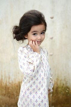 The Camille Top in Bohemia Block Print. Sizes 3y - 8y