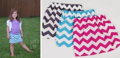 $4.99 Girls Chevron Skirts - Blow Out! | Sassy Steals