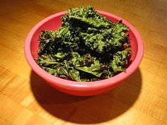 Kale Chips - an easy and addictive snack.