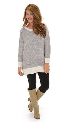 A silky soft sweater with that leggings worthy length we crave! $49 at shopbluedoor.com!