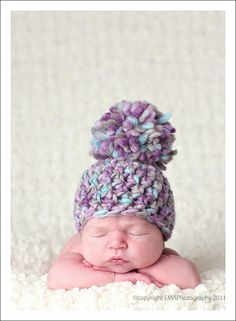 Love pics with naked babies in crocheted hats!