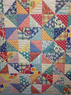 Love The Colors...1930's-style fabrics