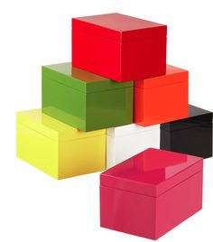 #Lacquered #boxes are the perfect way to keep things organized in any #nursery or #toddlerroom. #storage