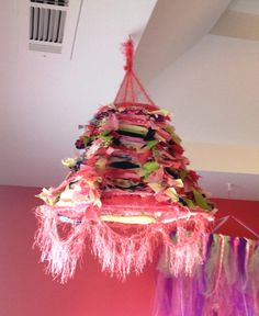 Childrens Cloth Chandelier by MadnessMomma on Etsy, $35.00