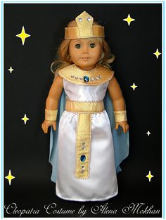 American Girl Doll Cleopatra Costume 18 inch by Bestdollboutique