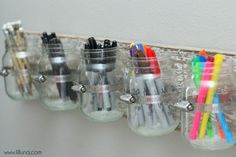 Jar Board Tutorial: From office supplies to toys, these jars will keep your things organized.