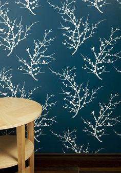 This is a removable wallpaper for the home.  I love the color and the design.  I also love that it's not permanent!