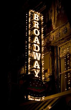 I want to see at least one show on Broadway! Maybe even be in one....
