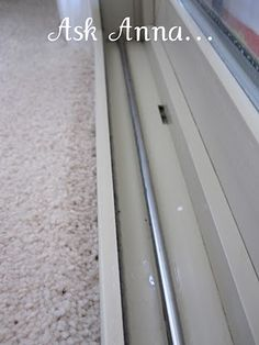 Cleaning your window tracks - use Q-tips and white vinegar. (I don't think mine have EVER looked that clean!)