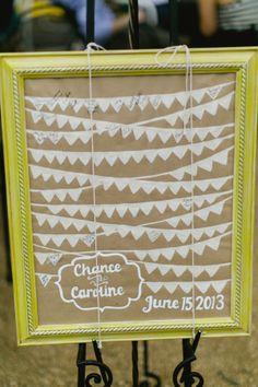 guest book ideas http://www.weddingchicks.com/2013/09/16/modern-texas-wedding-2/