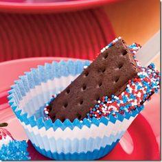 4th of food, ice cream treats, juli 4th, juli parti, fourth of july