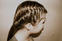 french fishtail french braid,fishtail