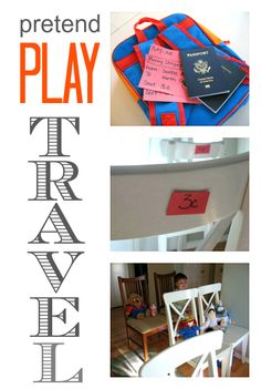 Be proactive! Get kids ready for airplane travel by acting it out and pretend play.