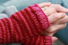 Free Knitting Pattern - Fingerless Gloves  Mitts: Engagement Mitts