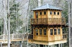 i could live in that! dream space, housesplay hous, stuff, tree housesplay, stori tree, trees, place, 2 storey treehouse, amaz treehous