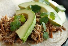 Slow Cooker Mexican Pork Carnitas from Skinnytaste; perfect for a Slow Cooker Summer Dinner. [via Slow Cooker from Scratch] #SlowCooker #CrockPot #SlowCookerSummerDinners #CookAllDay