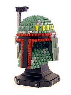 LEGO Boba Fett Helmet #legostatue #legomodel