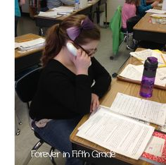 "Use ""whisper phones"" to help your students edit their writing.  Kids love to use them and they are easy to make!"