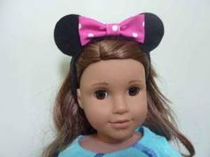 Minnie Mouse 'ears' tutorial for American Girl Doll