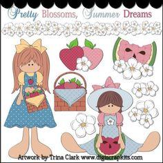 Summer Dreams 1 Clip Art - Original Artwork by Trina Clark