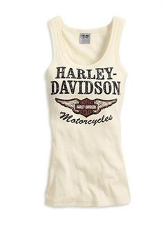 Harley-Davidson® Women's Off White Iconic Tank Top 99151-14VW