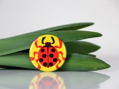 Ladybug, adorable pin from USSR. $4.50, via Etsy.