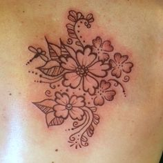 Henna style floral tattoo by Sara Eve Rivera, Inka Dinka Doo, Pittsburgh, PA.