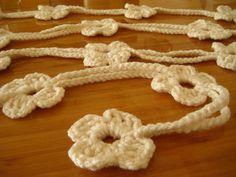 Ivory Crochet Necklace  Cream Ecru BLOOM BLOSSOM by beeMAYA, $11.00