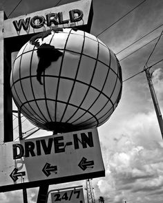 """World Drive-In - 16""""x20"""" photography print. Available on Etsy."""