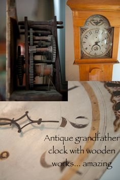 Antique grandfather clock with wooden works cynthiaweber.com
