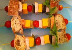 Sandwich kabobs for lunch