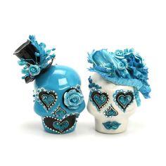 Skull Wedding Cake Topper A00161