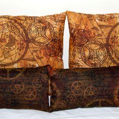 Steampunk throw pillows DIY