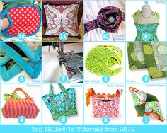 Top 12 How Tutorials of 2012 from sew4home.com