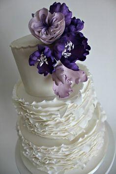 Wedding Cake beauti cake, ruffl, wedding cakes, peoni, eat cake
