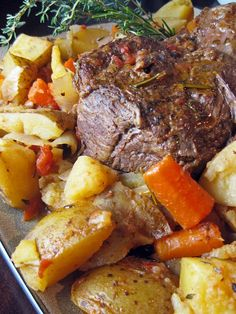Beef Pot Roast with Vegetables- Probably my favorite home cooked meal ever!