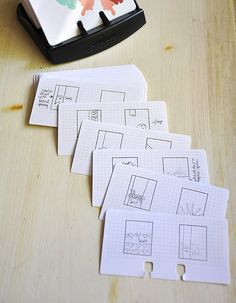 Sketch Cards by Maile Belles for Papertrey Ink (June 2012)