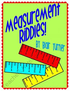 Measurement Riddles -- Measure to the Nearest 1/4 Inch from Blair Turner on TeachersNotebook.com (23 pages)  - In order to solve the riddles, students need to measure to the nearest 1/4 inch! A fun and engaging way to practice measurement skills!