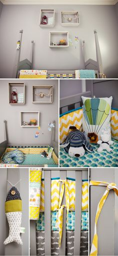 Grey nursery with touches of color