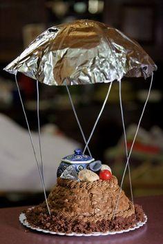 Hunger Games parachute cake