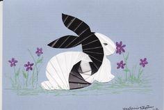 Iris folding bunny