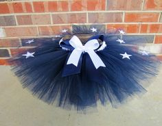 Navy Stars Embellished Tutu.  Could double as military theme or 4th of July theme!  One of my favorites for sure!